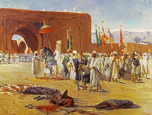 Gateway Painting - Moorish Procession by Jean Joseph Benjamin Constant