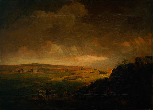 Painting - Moorland Landscape With Rainstorm by Celestial Images