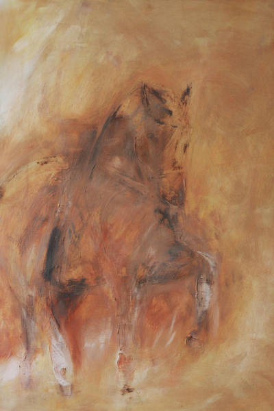 Dressage Painting - Moorlands Totilas  by Adrian McMillan