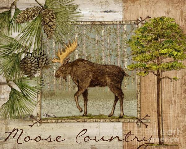 Acorn Wall Art - Painting - Moose Country by Paul Brent