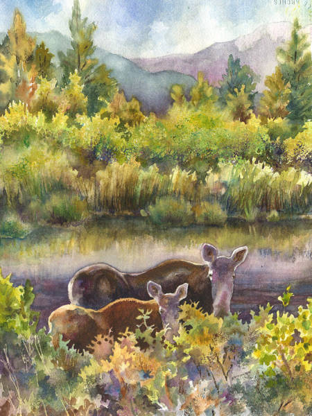 Wall Art - Painting - Moose Magic by Anne Gifford