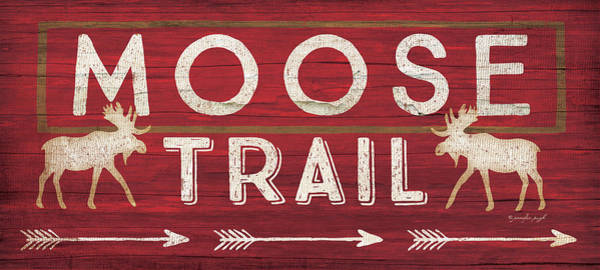 Cabin Wall Art - Painting - Moose Trail by Jennifer Pugh