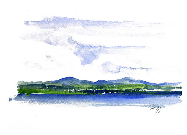 Painting - Moosehead Lake by Paul Gaj