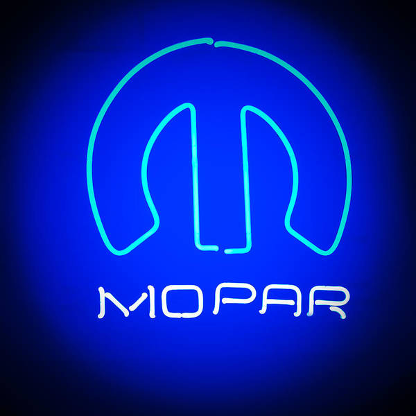 Wall Art - Photograph - Mopar Neon Sign by Jill Reger