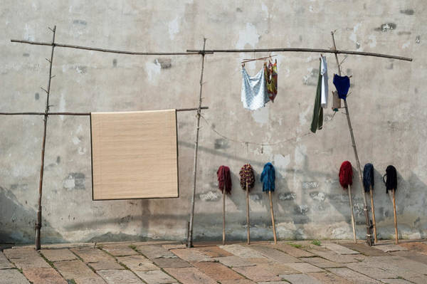 Mops And Laundry 2  Wuzhen China Art Print