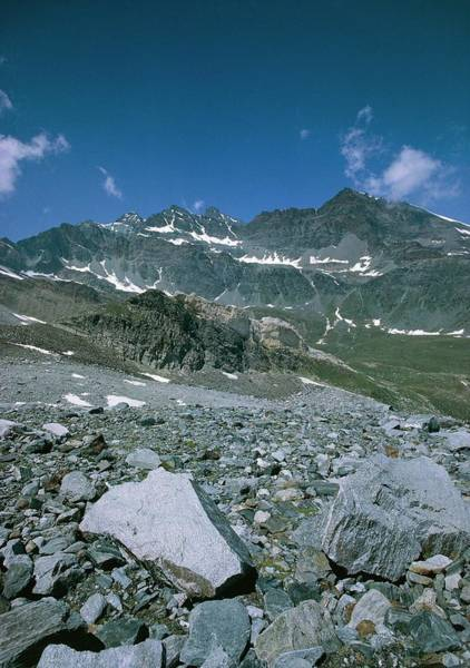 Glacial Photograph - Moraine Deposit 3000 Metres Up In Gran Paradiso by Martin Dohrn/science Photo Library