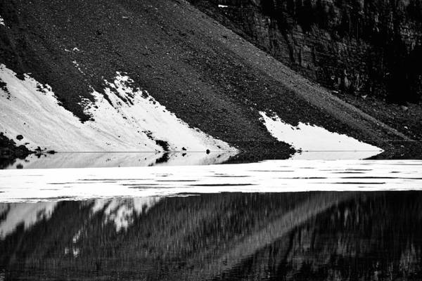 Photograph - Moraine Lake Abstract - Black And White #2 by Stuart Litoff