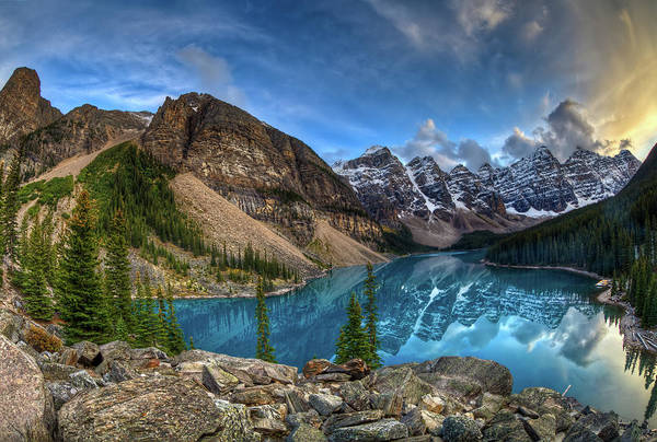 Moraine Lake Photograph - Moraine Lake, Alberta by Basic Elements Photography