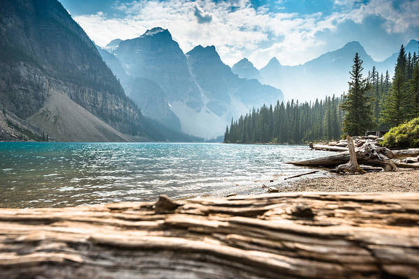 Moraine Lake In Banff National Park - Canada Art Print by Franckreporter