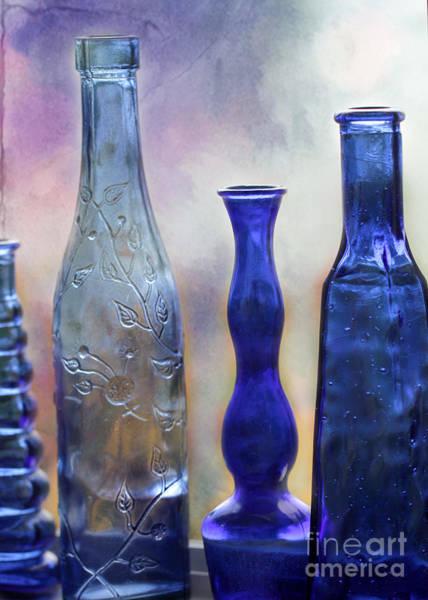 Photograph - More Cobalt Blue Bottles by Sabrina L Ryan