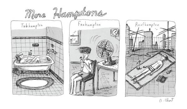 Roof Drawing - More Hamptons: by Roz Chast