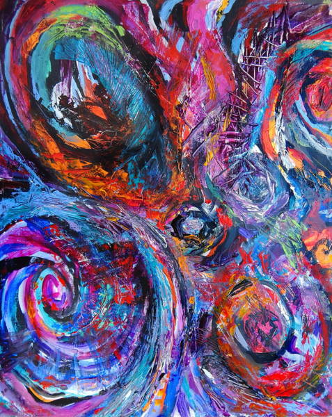 Dominate Painting - Fly Away 2 by Expressionistart studio Priscilla Batzell