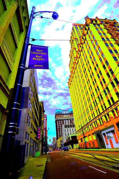 More Memphis On Monroe Art Print