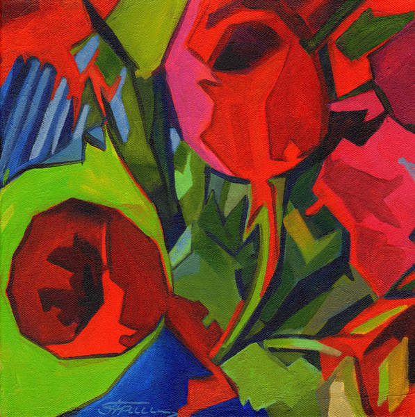 Painting - More Red Tulips  by Tanya Filichkin