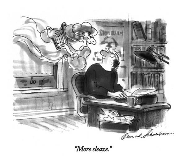 October 3rd Drawing - More Sleaze by Bernard Schoenbaum