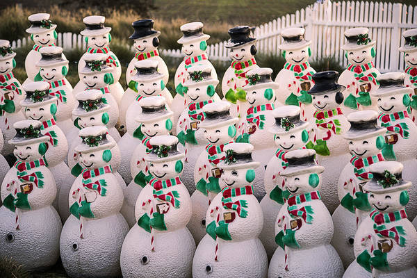 Snowman Photograph - More Snowmen by Garry Gay
