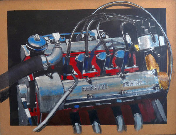 Painting - Moretti Engine by Richard Le Page