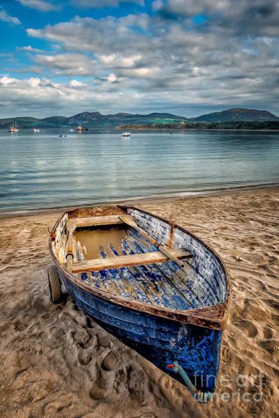 Coast Digital Art - Morfa Nefyn Boat by Adrian Evans