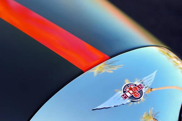 Photograph - Morgan 3 Hood Emblem -0042c by Jill Reger