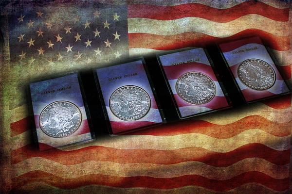Photograph - Morgan Silver Dollar by Gunter Nezhoda