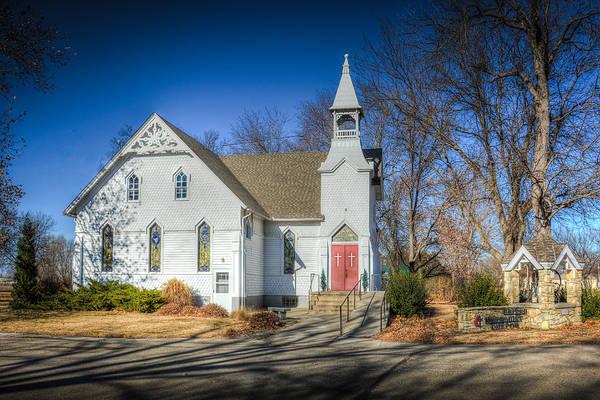Methodist Photograph - Morganville Kansas Umc by Larry Pacey
