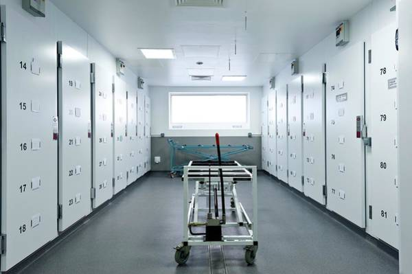 Morgue Photograph - Morgue Storage Area by Dan Dunkley