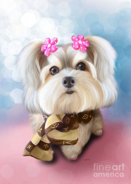 Mixed Media - Morkie Joy by Catia Lee