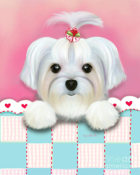 Morkie Shelly Art Print