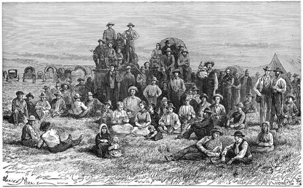 Wall Art - Painting - Mormon Emigrants, 1874 by Granger