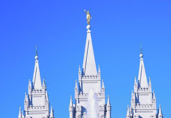 Period Photograph - Mormon Temple In Salt Lake City Utah by Panoramic Images
