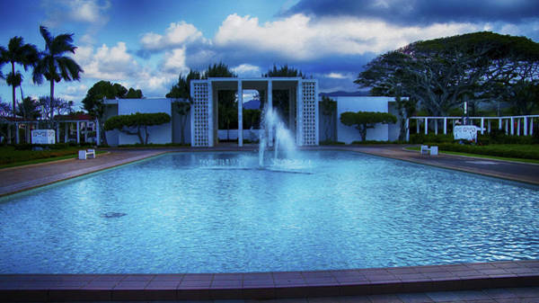 Photograph - Mormon Temple Oahu Hawaii by Wayne Wood