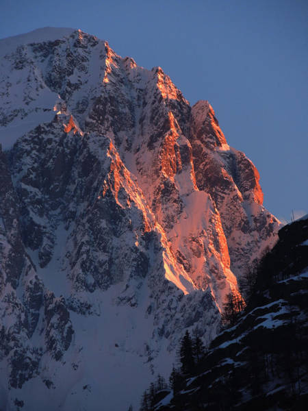 Photograph - Morning Alpenglow  by Frank Wilson