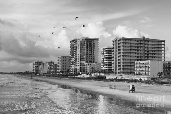 Photograph - Morning At Daytona Beach by Deborah Benoit
