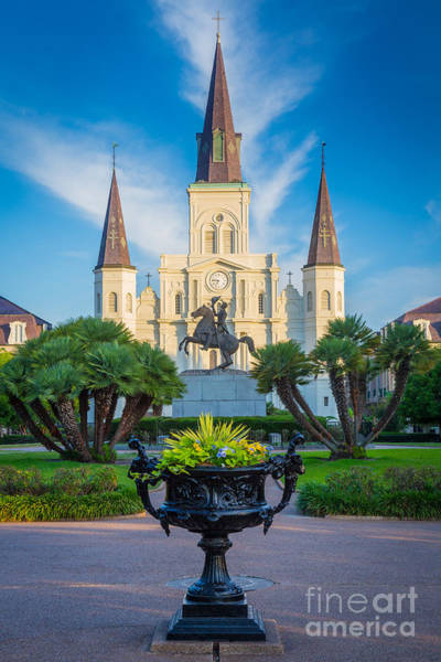Vieux Carre Wall Art - Photograph - Morning At Jackson Square by Inge Johnsson