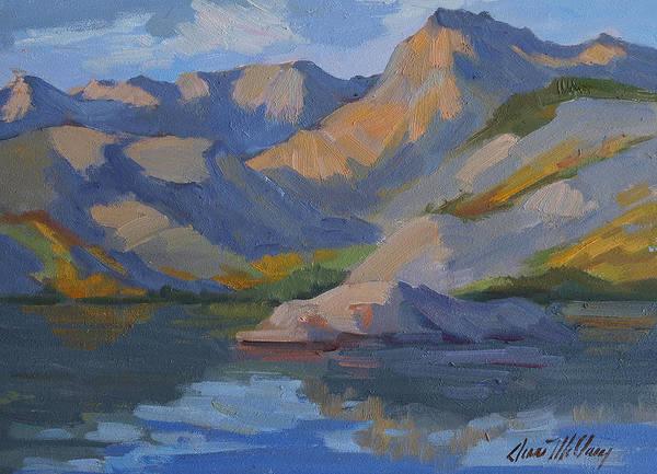 Sierra Nevada Painting - Morning At Lake Sabrina by Diane McClary