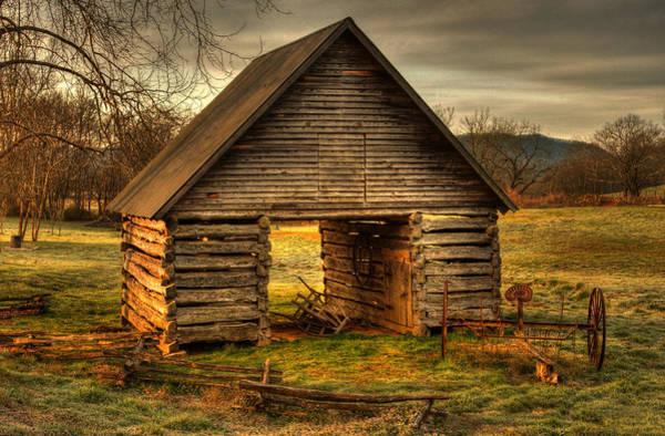 Hay Rake Photograph - Morning At The Barn by Greg and Chrystal Mimbs