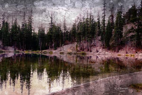 Digital Art - Morning At The Lake by T A Davies