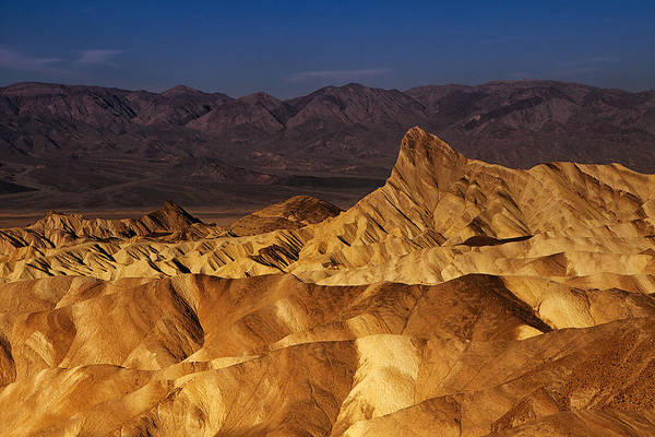 Death Valley Photograph - Morning At Zabriskie Point by Andrew Soundarajan