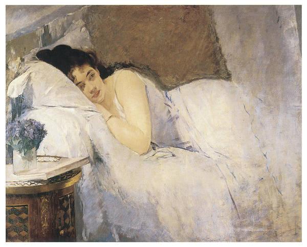 Gonzales Wall Art - Painting - Morning Awakening by Eva Gonzales