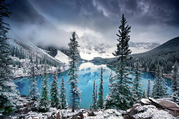 Rockies Wall Art - Photograph - Morning Blues by Trevor Cole