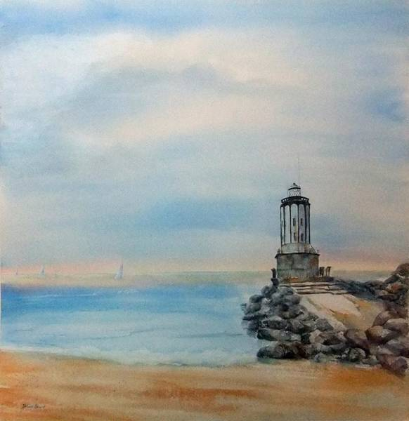 Painting - Angel's Gate Lighthouse by Debbie Lewis