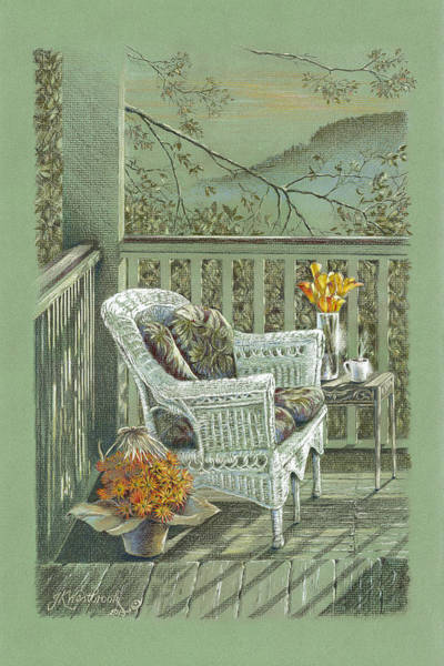 Painting - Morning Coffee At The Piedmont Inn by Jill Westbrook