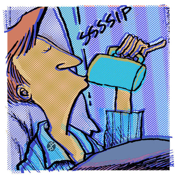 Painting - Morning Coffee Daddy's Home Comics by Tony Rubino