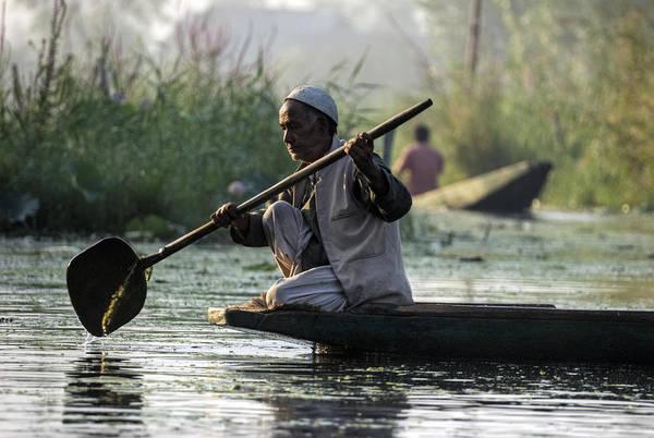 Dal Lake Photograph - Morning Contemplations by Rohit Chawla