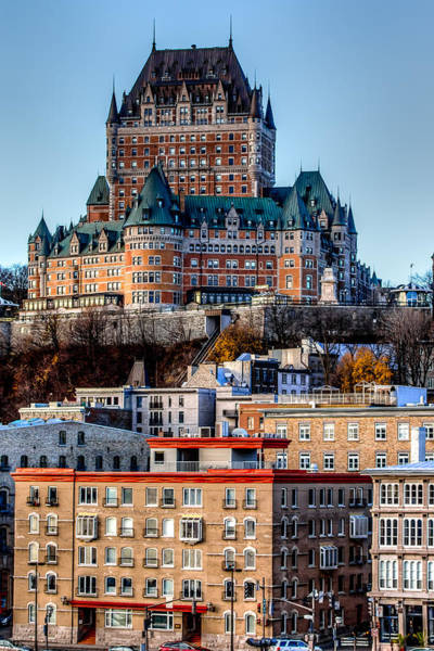 Quebec City Photograph - Morning Dawns Over The Chateau Frontenac by Bill Lindsay