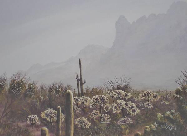 Painting - Morning Desert Haze by Ray Nutaitis