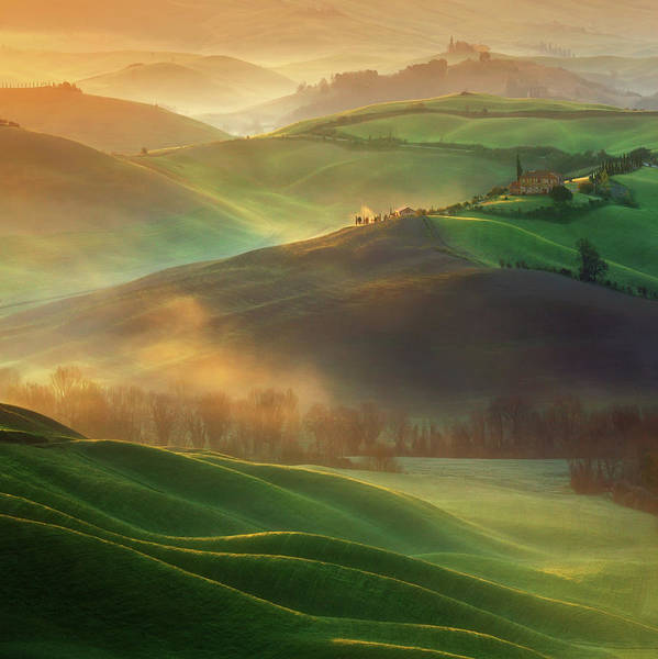 Tuscany Landscape Wall Art - Photograph - Morning Dreams by Krzysztof Browko
