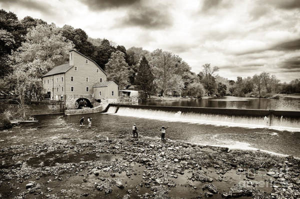 Photograph - Morning Fishing At The Old Red Mill by John Rizzuto