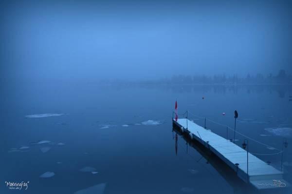 Morning Fog 002 - Skaha Lake 03-06-2014 Art Print