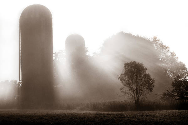 Wny Wall Art - Photograph - Morning Fog Burning Off The Farm by Chris Bordeleau